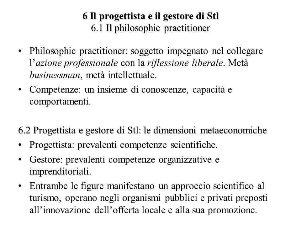 6 Il progettista e il gestore di Stl 6.1 Il philosophic practitioner