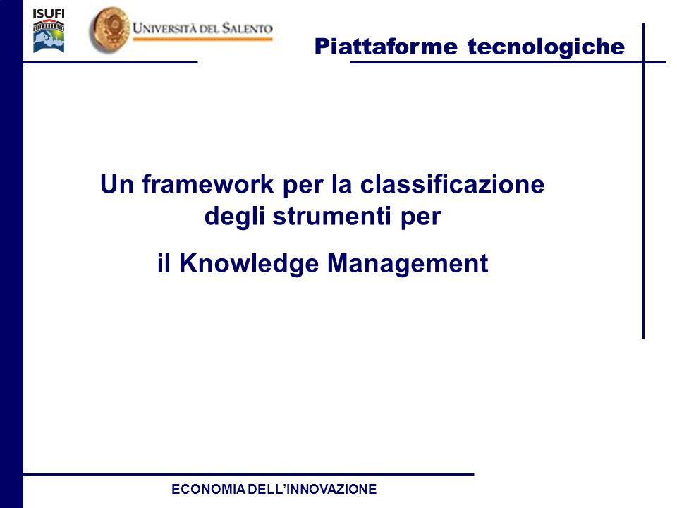 Un framework per la classificazione degli strumenti per