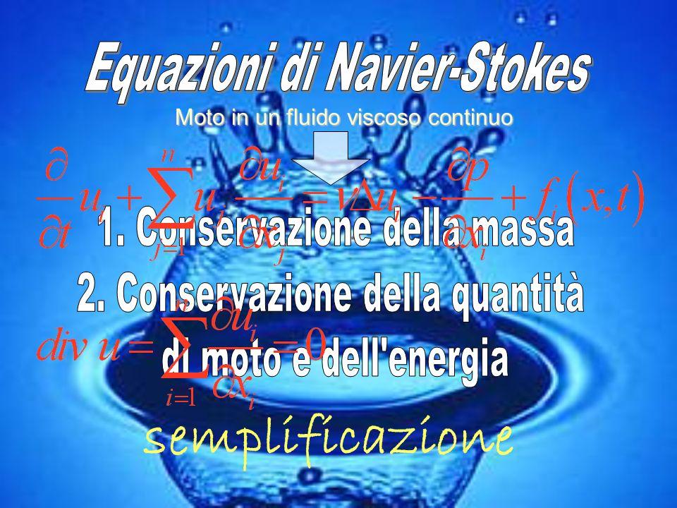 semplificazione Equazioni di Navier-Stokes