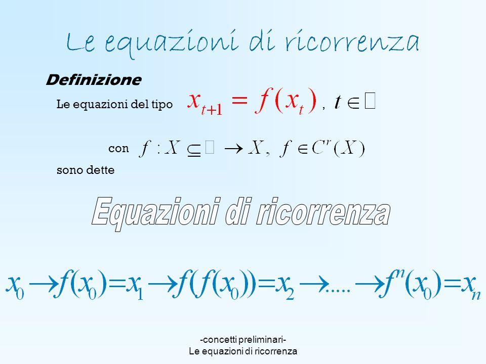 Le equazioni di ricorrenza