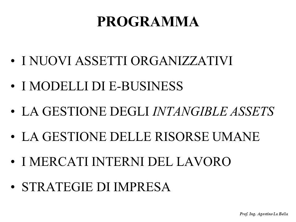 PROGRAMMA I NUOVI ASSETTI ORGANIZZATIVI I MODELLI DI E-BUSINESS