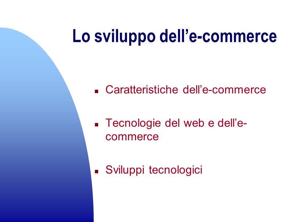Lo sviluppo dell'e-commerce
