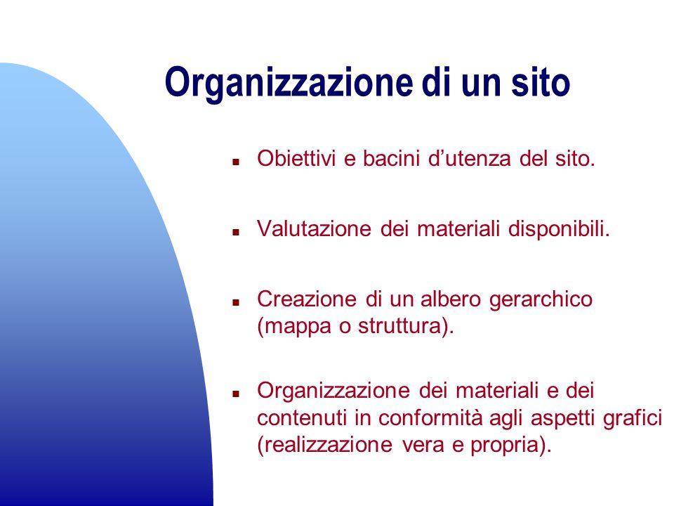 Organizzazione di un sito