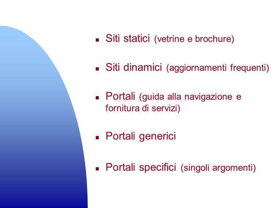 Siti statici (vetrine e brochure)