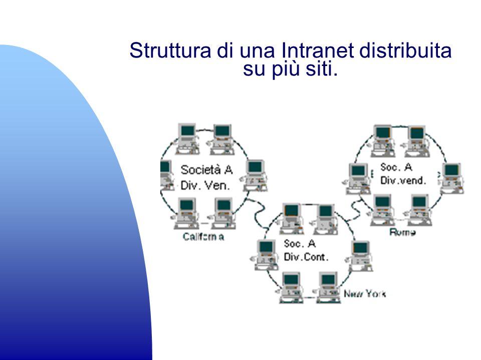 Struttura di una Intranet distribuita su più siti.
