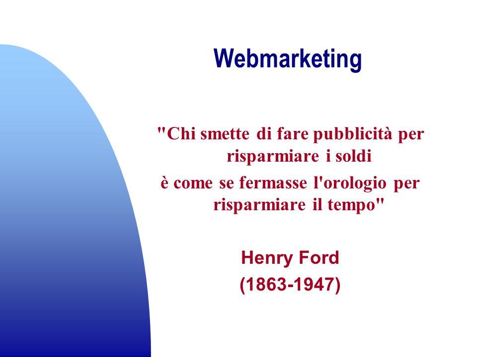Webmarketing Chi smette di fare pubblicità per risparmiare i soldi