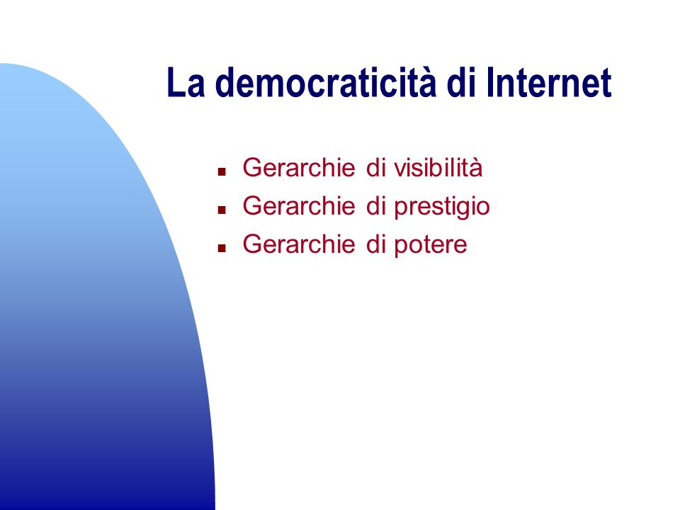 La democraticità di Internet