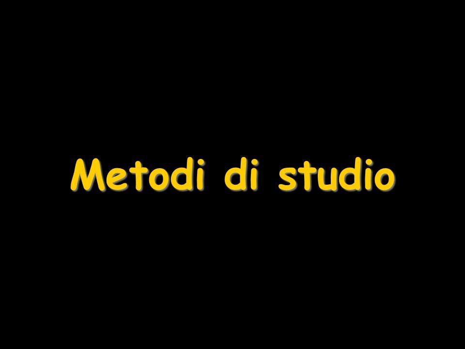Metodi di studio