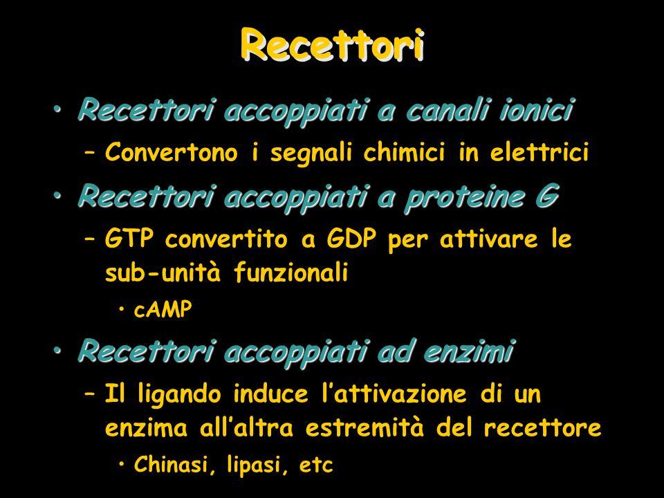 Recettori Recettori accoppiati a canali ionici