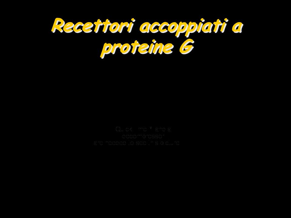 Recettori accoppiati a proteine G