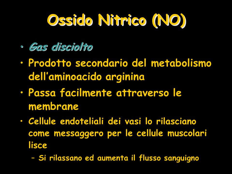 Ossido Nitrico (NO) Gas disciolto