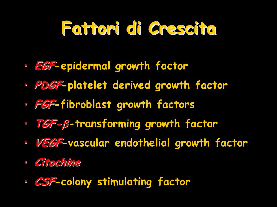Fattori di Crescita EGF-epidermal growth factor