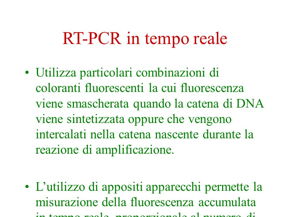 RT-PCR in tempo reale