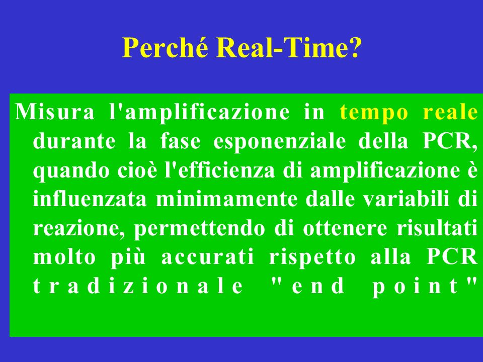 Perché Real-Time
