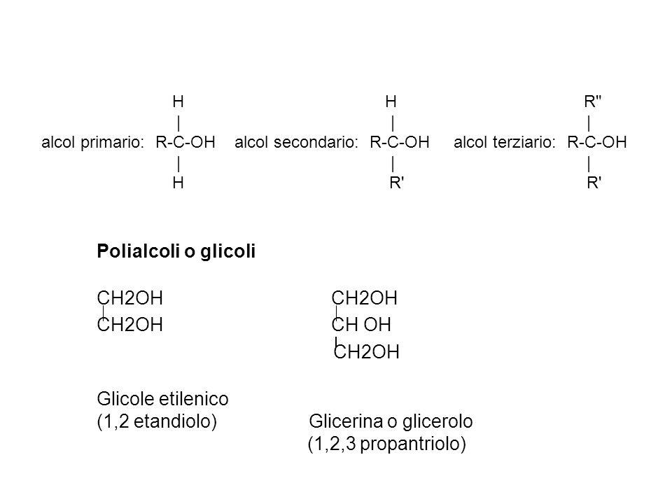 (1,2 etandiolo) Glicerina o glicerolo (1,2,3 propantriolo)