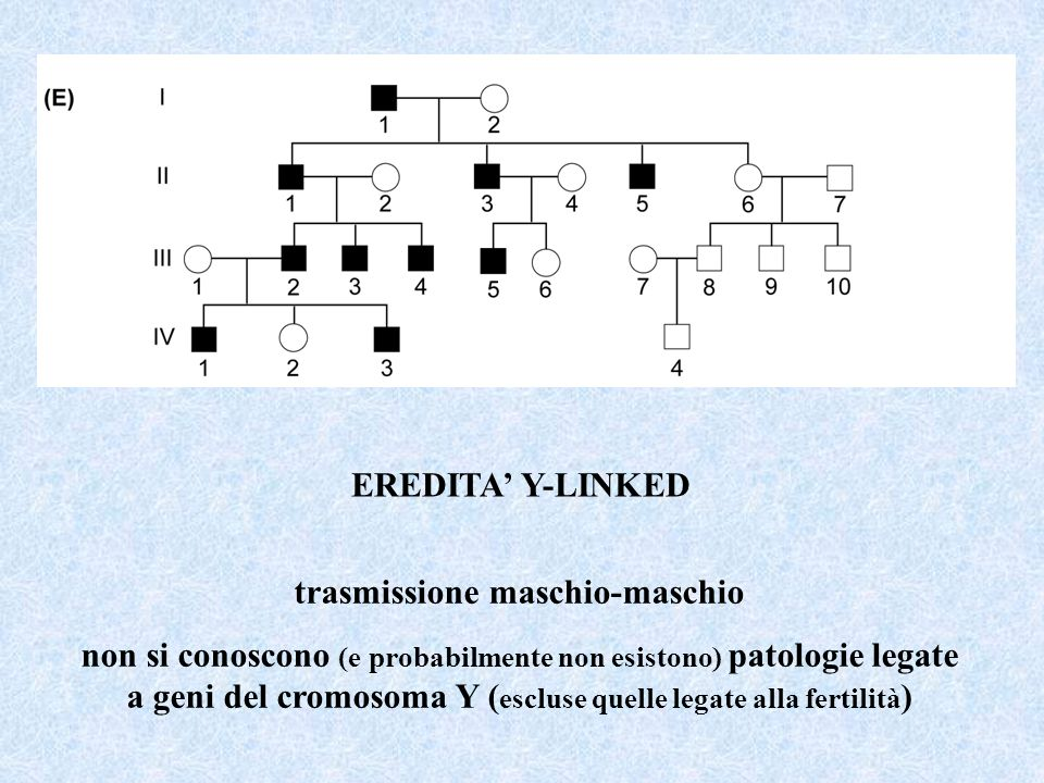 trasmissione maschio-maschio