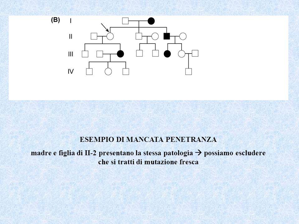 ESEMPIO DI MANCATA PENETRANZA