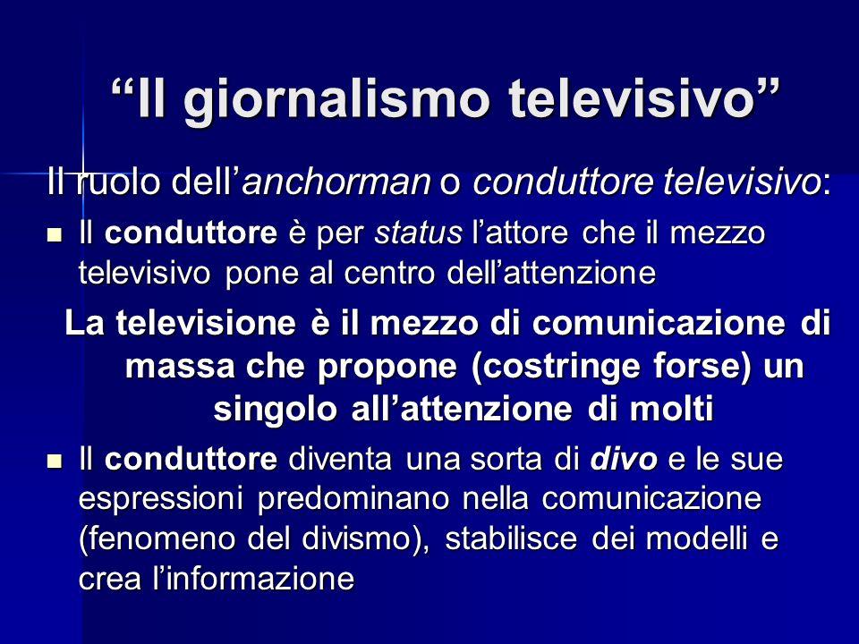 Il giornalismo televisivo