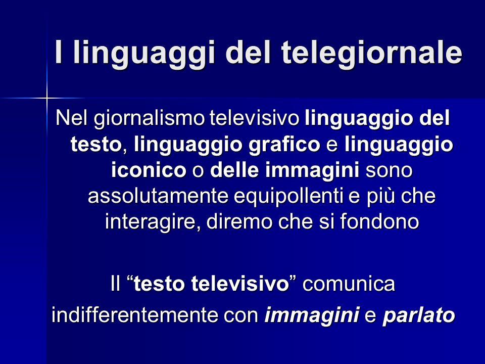 I linguaggi del telegiornale