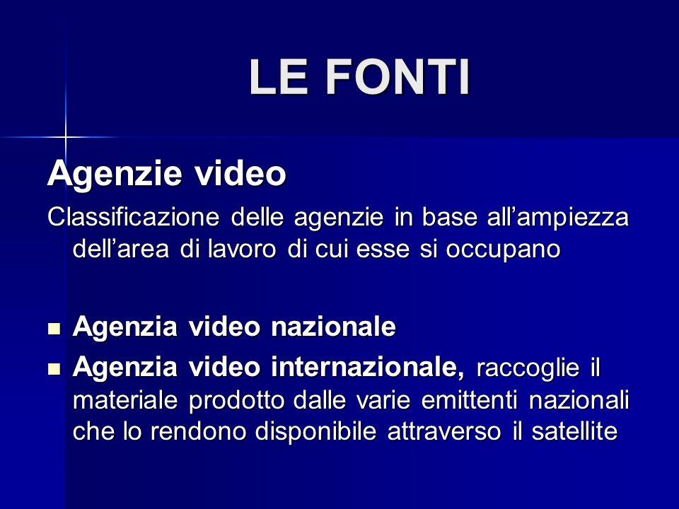 LE FONTI Agenzie video Agenzia video nazionale