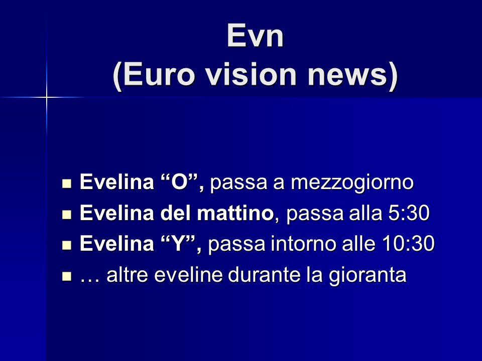 Evn (Euro vision news) Evelina O , passa a mezzogiorno