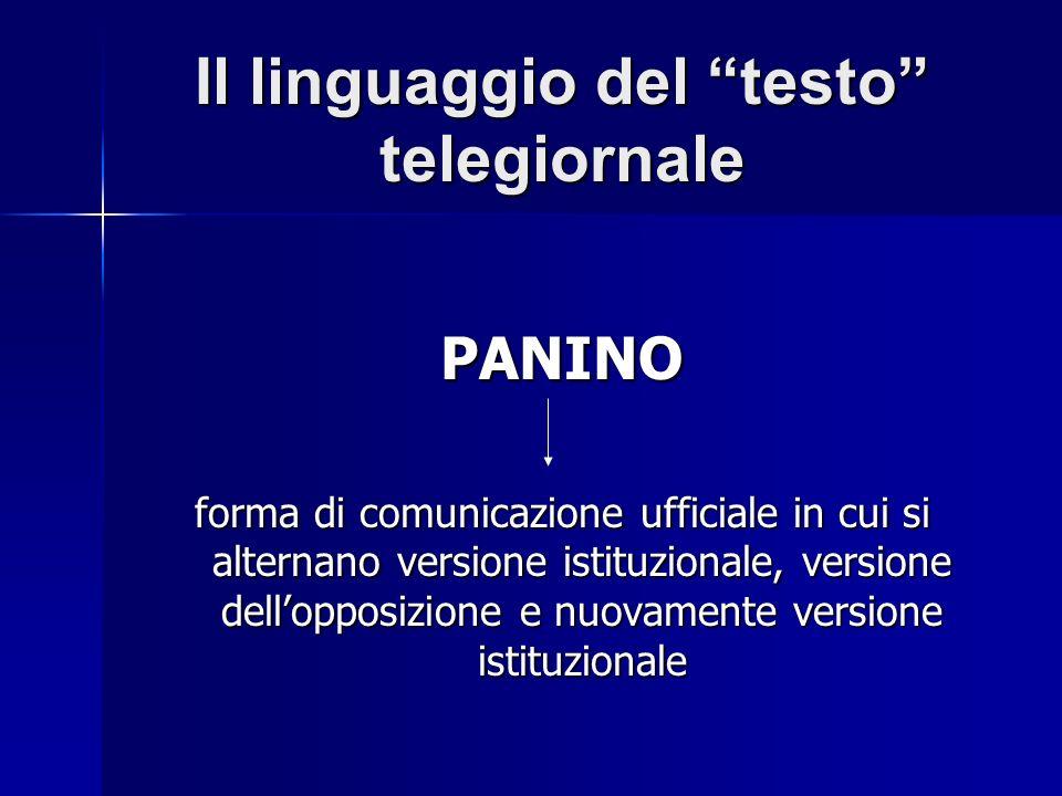 Il linguaggio del testo telegiornale
