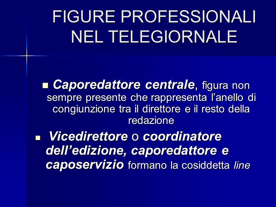 FIGURE PROFESSIONALI NEL TELEGIORNALE