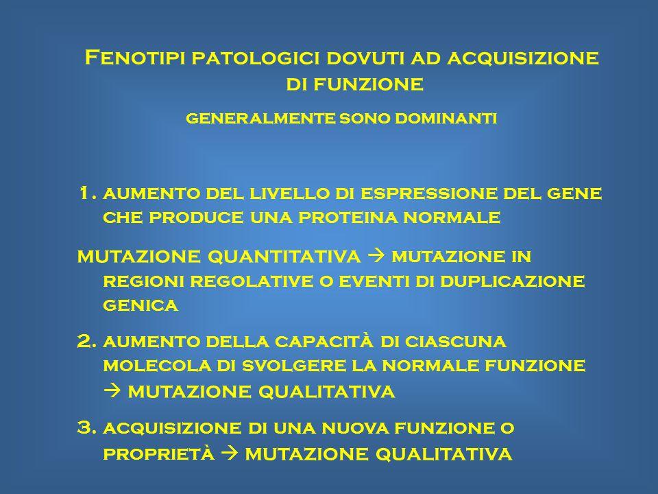 Fenotipi patologici dovuti ad acquisizione di funzione