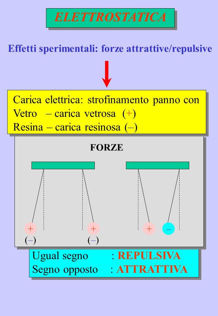 ELETTROSTATICA Carica elettrica: strofinamento panno con