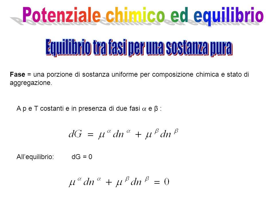 Potenziale chimico ed equilibrio