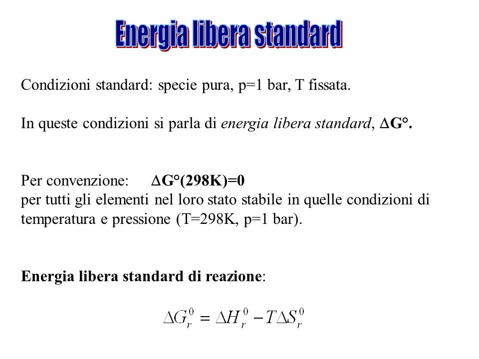Energia libera standard