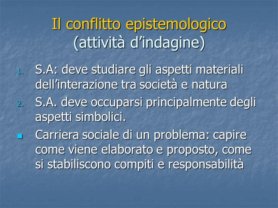 Il conflitto epistemologico (attività d'indagine)