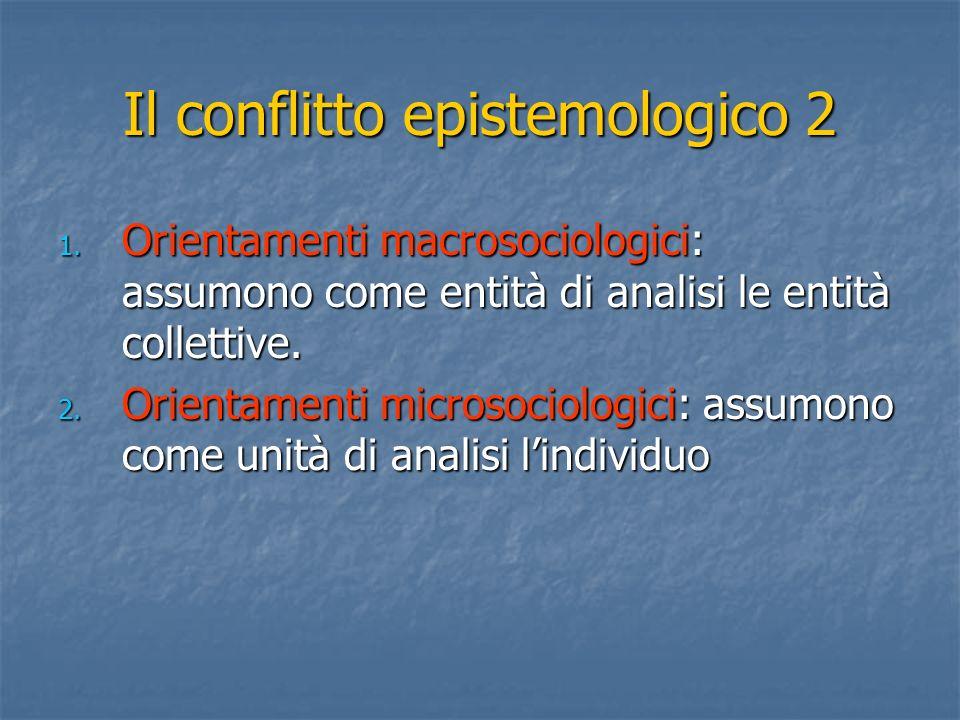 Il conflitto epistemologico 2