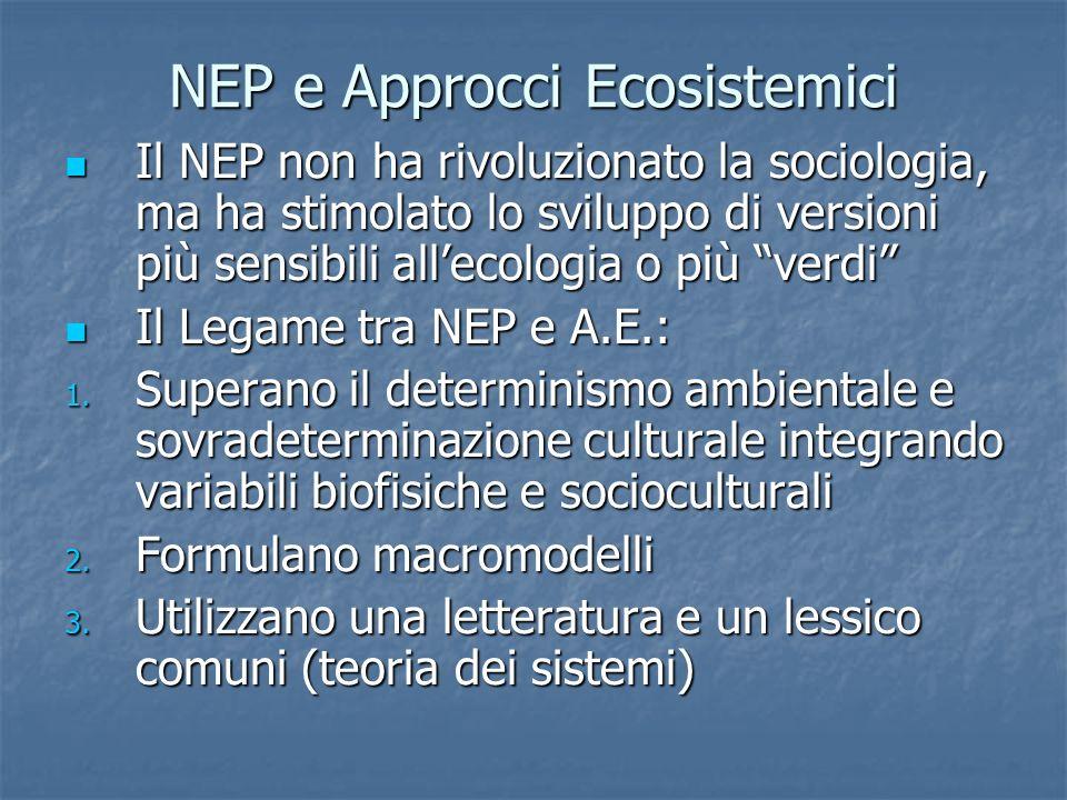 NEP e Approcci Ecosistemici