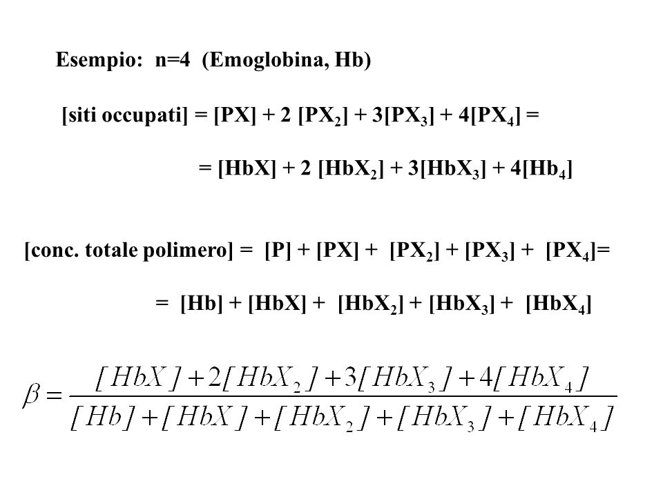Esempio: n=4 (Emoglobina, Hb)