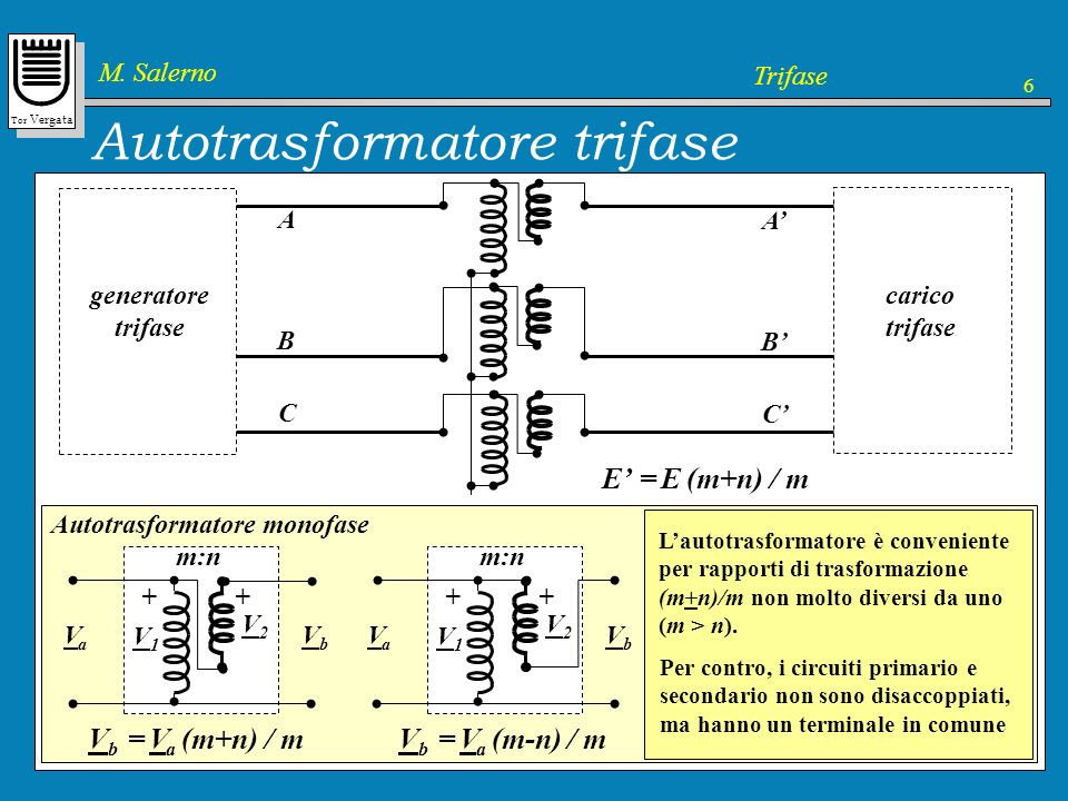 Autotrasformatore trifase