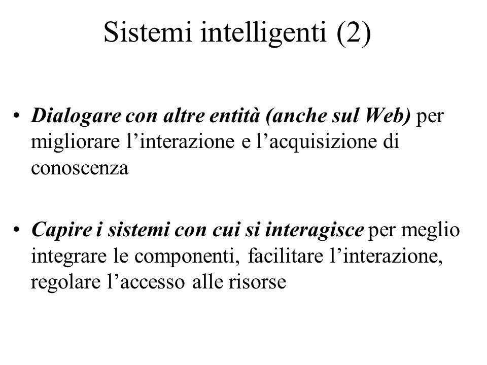 Sistemi intelligenti (2)
