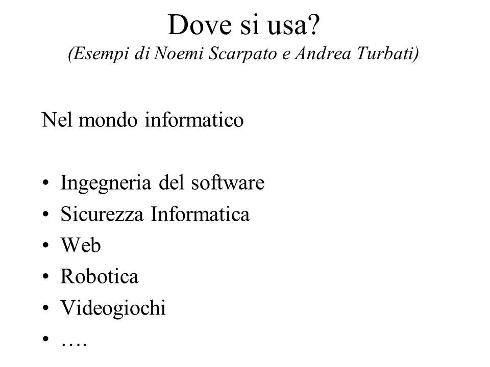 Dove si usa (Esempi di Noemi Scarpato e Andrea Turbati)
