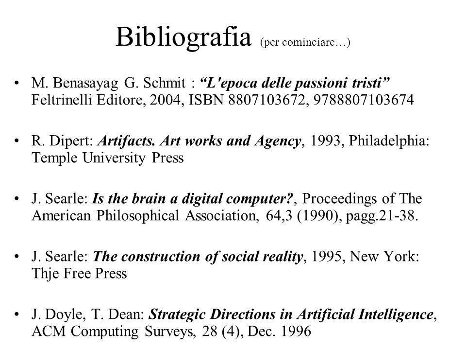 Bibliografia (per cominciare…)