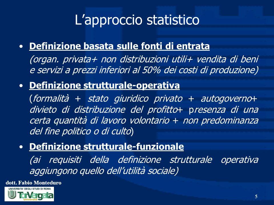 L'approccio statistico