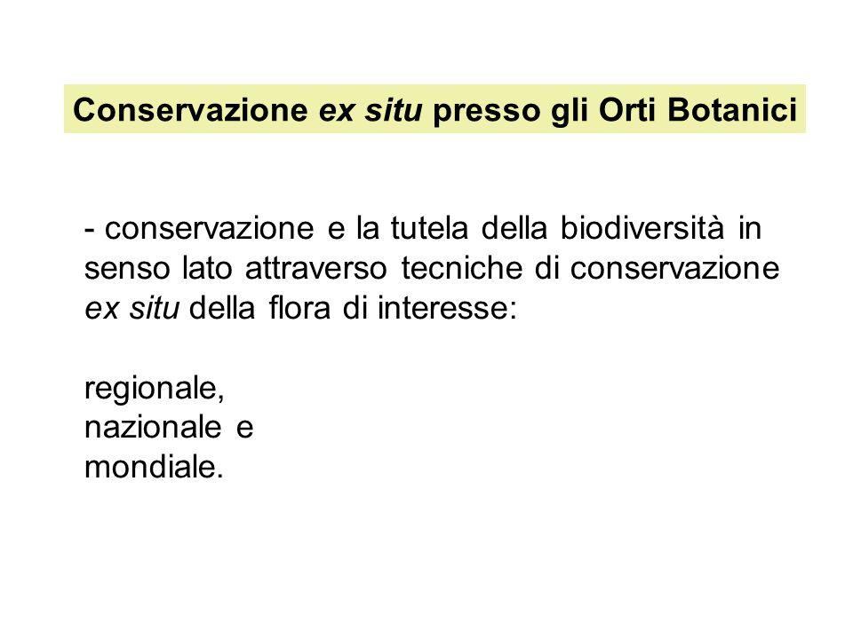 Conservazione ex situ presso gli Orti Botanici