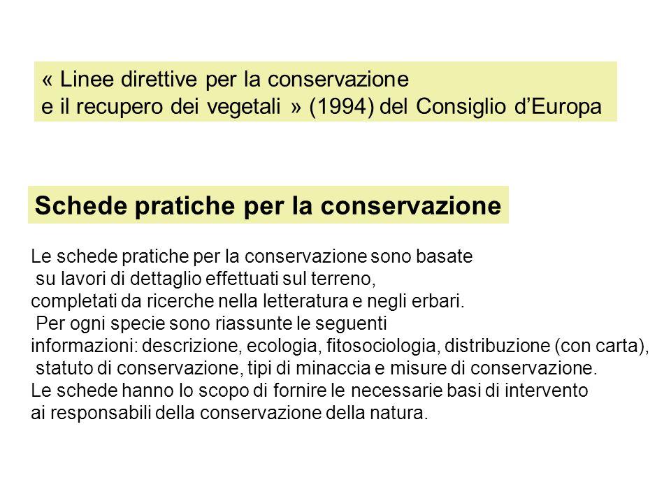 Schede pratiche per la conservazione