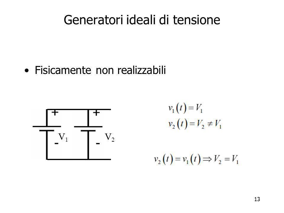 Generatori ideali di tensione