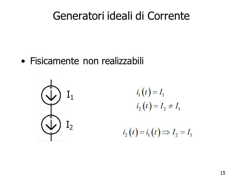 Generatori ideali di Corrente