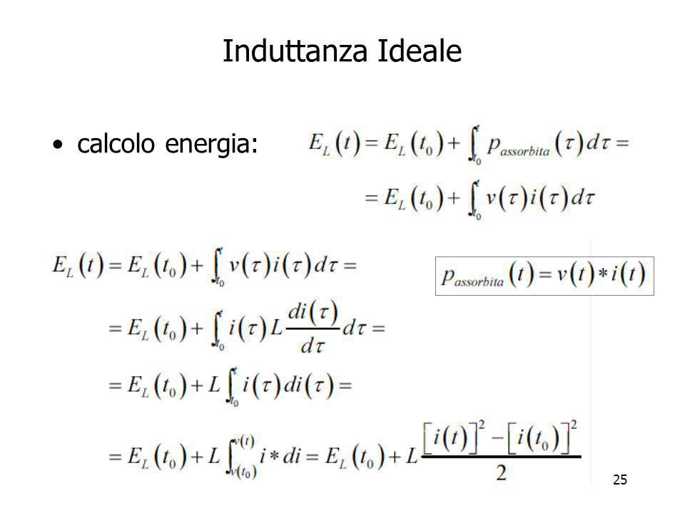 Induttanza Ideale calcolo energia:
