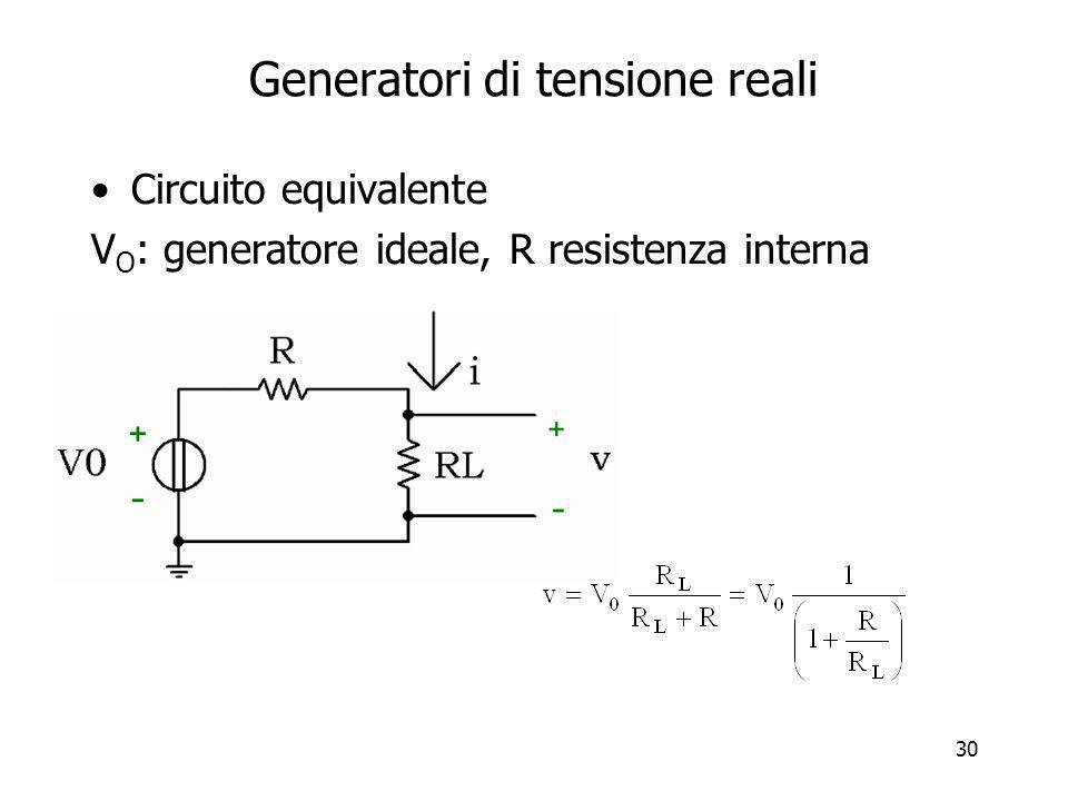 Generatori di tensione reali