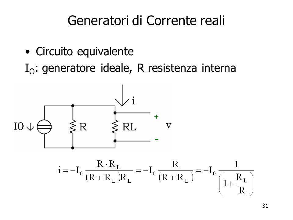 Generatori di Corrente reali