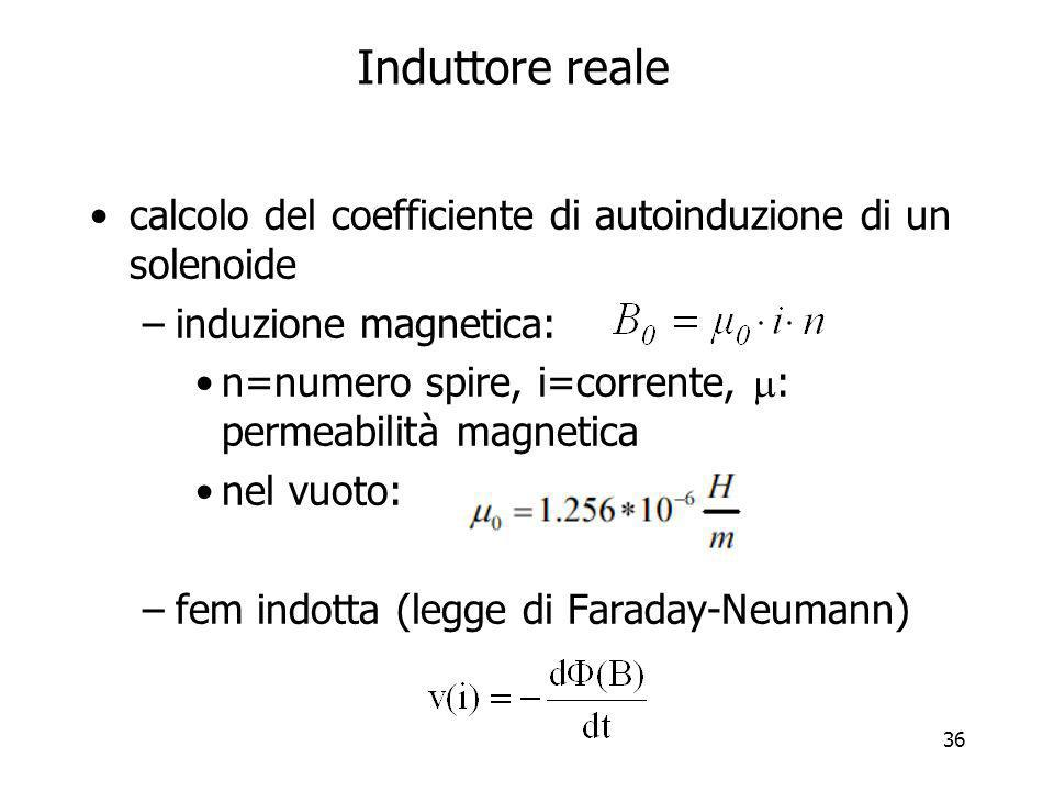 Induttore reale calcolo del coefficiente di autoinduzione di un solenoide. induzione magnetica: