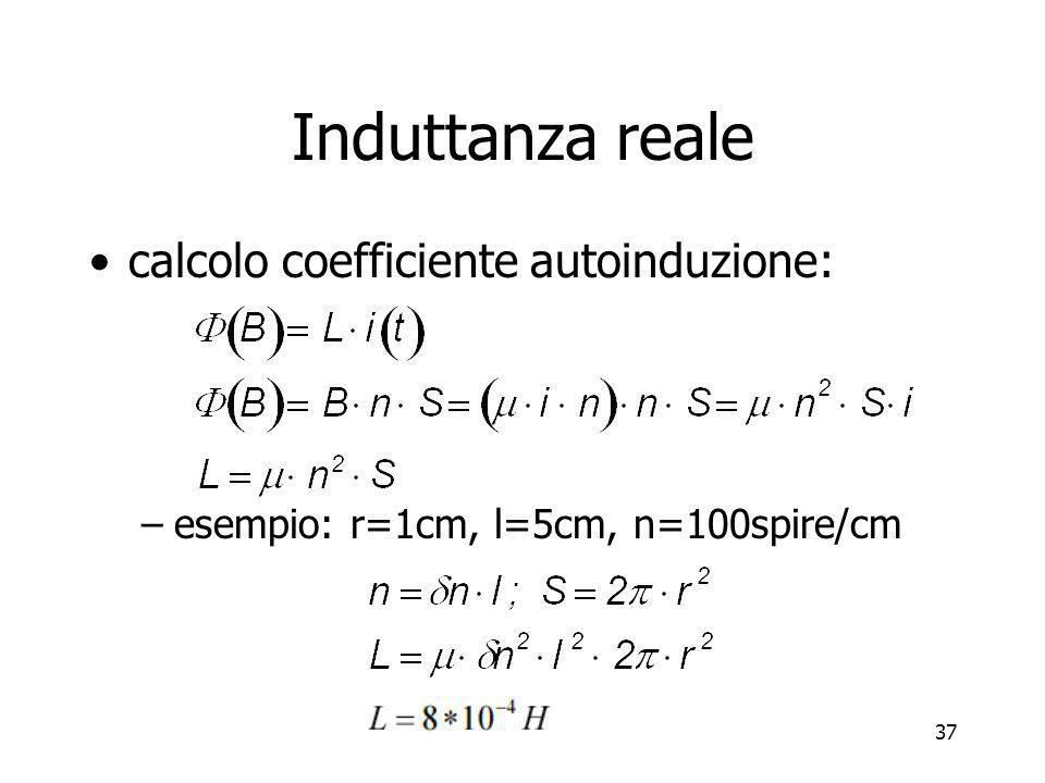 Induttanza reale calcolo coefficiente autoinduzione: