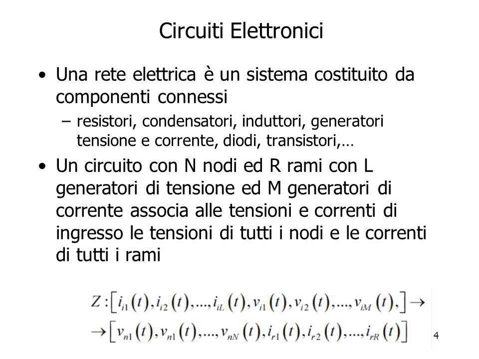 Circuiti Elettronici Una rete elettrica è un sistema costituito da componenti connessi.